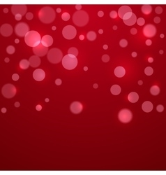 Red Valentine holiday background with circles vector image
