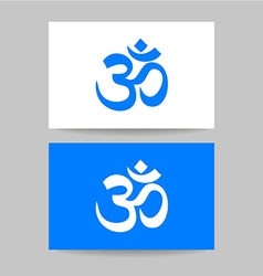 Om sign template vector