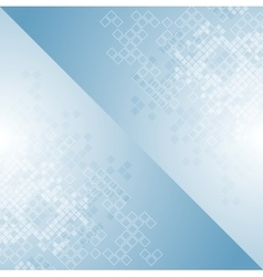 Blue tech geometric background design with squares vector