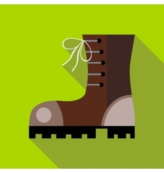 Hiking boot icon in flat style vector