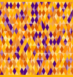 Abstract diamond pattern halloween colors vector