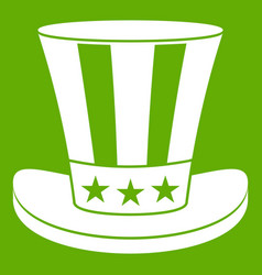 american hat icon green vector image