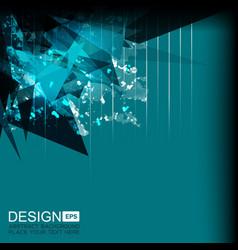Background green grunge geometric vector