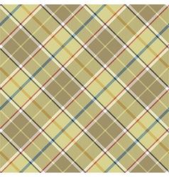 Beige tartan diagonal fabric texture seamless vector