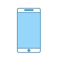 blue icon cellhphone cartoon vector image