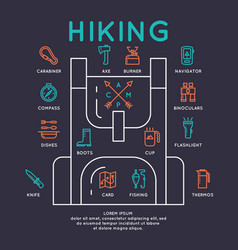 Camping infographics vector