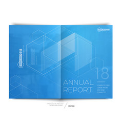 Cover design annual report flyer brochure vector