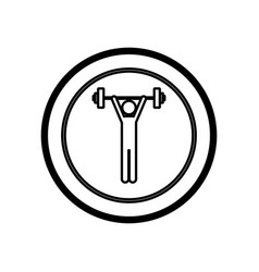 figure symbol person lifting weights gym vector image vector image