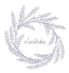 floral hand-drawn garland vector image vector image