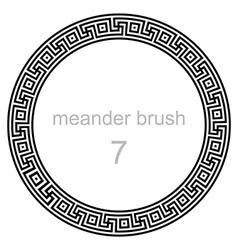 Frame round ornament meander vector