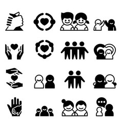 friendship friend icons vector image vector image