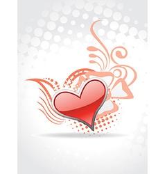 Heart background art vector image