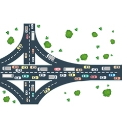 Highway road view vector