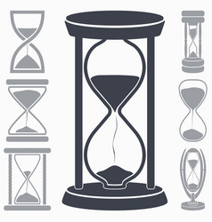 hourglass icon symbol of time vector image vector image