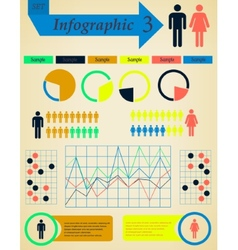 Infographics elements set man and woman - vector
