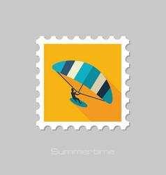 kite boarding kitesurfing stamp vacation vector image vector image
