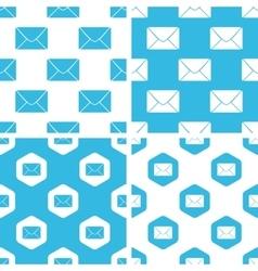 Letter patterns set vector