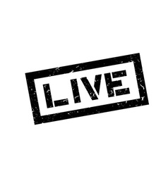 Live rubber stamp vector