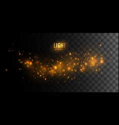 luminous fire stars vector image vector image