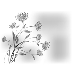 Meadow flowers on a grey base eps10 vector