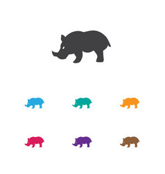 of animal symbol on rhinoceros vector image vector image