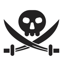 Pirate jack sign vector image vector image