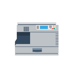 printer machine office copy print business icon vector image vector image