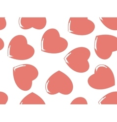 Seamless background of hearts in pastel color vector image vector image