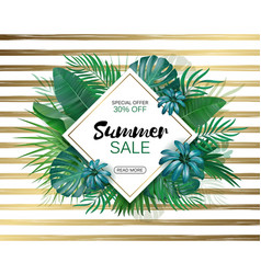 summer sale concept summer background with vector image vector image