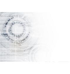 Technological communication digital circle modern vector