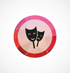 theater circle pink triangle background icon vector image