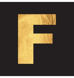 Uppercase letter F of the English alphabet vector image vector image