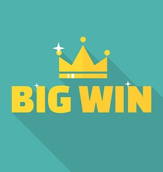 Big win banner vector