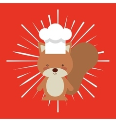 Animal chef character kids menu vector