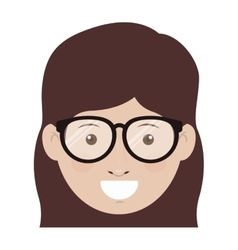 Avatar woman smiling vector
