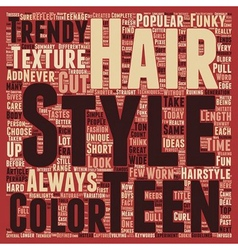 Teen hair style ideas text background wordcloud vector