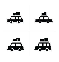 Car and transport icons vector