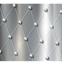 Background grid with metal balls vector