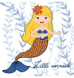 A beautiful little mermaid vector