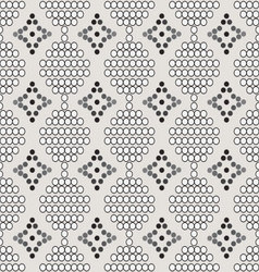 Seamless pattern of white circles with the contour vector