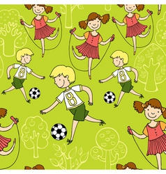 Children sports vector