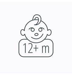 Baby face icon newborn child sign vector