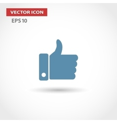 Thumbs up like modern icon flat design vector