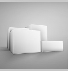 Cardboard white boxes vector image