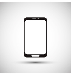 Smartphone design media icon flat vector