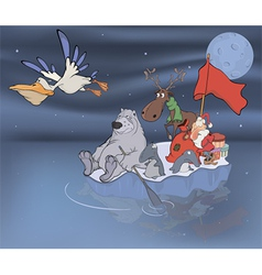 Adventures of Santa Claus and his friends vector image