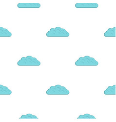 Autumn cloud pattern flat vector