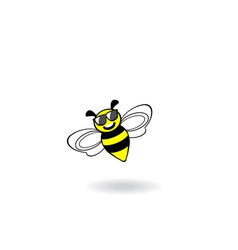 Bee icon vector