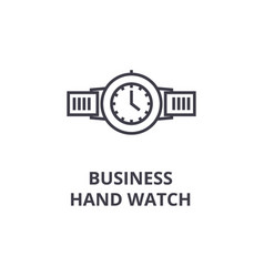 business hand watch line icon outline sign vector image vector image