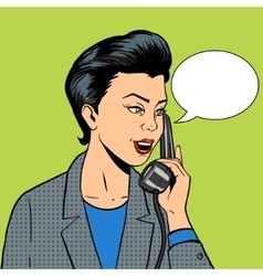 Business woman with phone vector image vector image